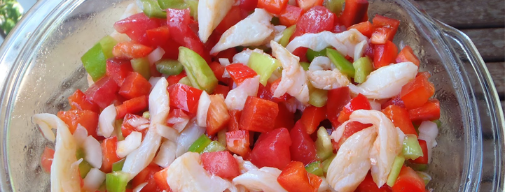 Tomato and cod fish salad