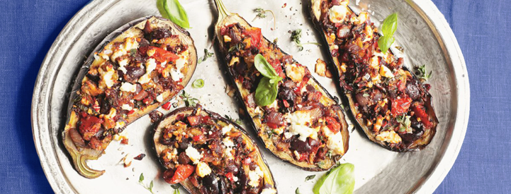 stuffed eggplant with chicken
